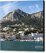 Island Capri Panoramic Sea View Canvas Print