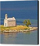 Island Church By The Sea Canvas Print by Brch Photography