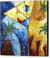 Island Martini  Original Madart Painting Canvas Print