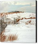 Island Snow Canvas Print by JC Findley