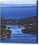 Isle Au Haut Harbor Canvas Print by Dave Cleaveland
