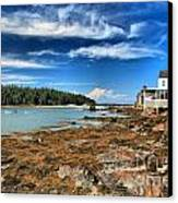 Isle Au Haut House Canvas Print
