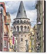 Istanbul Galata Tower Canvas Print by Antony McAulay