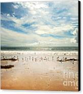 It Was A Sunny Day At The Beach From The Book My Ocean Canvas Print
