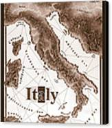 Italian Map Canvas Print