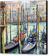 Italy Venice Lamp Canvas Print by Yuriy Shevchuk
