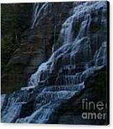 Ithaca Falls At Dusk Canvas Print by Anna Lisa Yoder