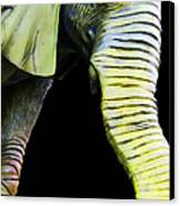 It's A Long Story - Unique Elephant Art Canvas Print by Sharon Cummings