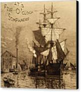 It's Five O'clock Somewhere Schooner Canvas Print