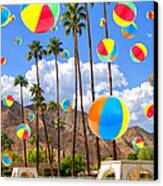 Its Raining Beach Balls Palm Springs Canvas Print by William Dey