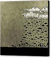 It's Raining Umbrellas Canvas Print by Gianfranco Weiss