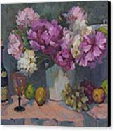 J. P. Chenet And Peonies Canvas Print