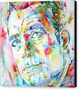 Jack Kerouac Portrait.1 Canvas Print by Fabrizio Cassetta