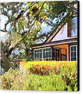 Jack London Countryside Cottage And Garden 5d24570 Long Canvas Print by Wingsdomain Art and Photography