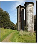 Jack London Ranch Silos 5d22162 Canvas Print by Wingsdomain Art and Photography