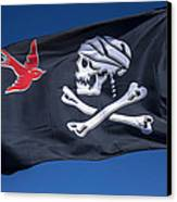 Jack Sparrow Pirate Skull Flag Canvas Print