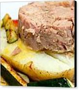Jacket Potato With Tuna Filling Canvas Print by Fizzy Image