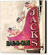 Jacks Bbq Canvas Print by Amy Tyler