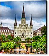 Jackson Square New Orleans Canvas Print by Jarrod Erbe