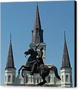 Jackson Square Salute Canvas Print by Kevin Croitz