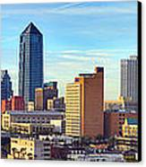 Jacksonville Skyline Morning Day Color Panorama Florida Canvas Print by Jon Holiday