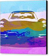 Jaguar E Type Front Canvas Print by Naxart Studio