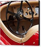 Jaguar Steering Wheel Canvas Print by Jill Reger