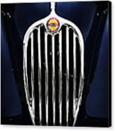 Jaguar Xk140 Grille Canvas Print by Mark Rogan