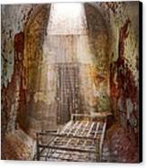 Jail - Eastern State Penitentiary - 50 Years To Life Canvas Print by Mike Savad