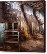 Jail - Eastern State Penitentiary - Sick Bay Canvas Print by Mike Savad