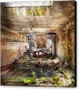 Jail - Eastern State Penitentiary - The Mess Hall  Canvas Print by Mike Savad