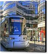 Jan Wellem Platz Duesseldorf Canvas Print by David Davies