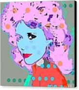 Jane Fonda Canvas Print by Ricky Sencion