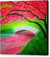 Japanese Blossoms Canvas Print by Haleema Nuredeen