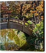 Japanese Garden In Fall Canvas Print by Iris Greenwell