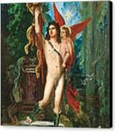Jason And Eros Canvas Print by Gustave Moreau
