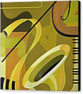 Jazz Canvas Print by Carolyn Hubbard-Ford