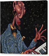 Jazz Man Canvas Print by Ned Shuchter