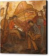 Jazz Quartet Canvas Print by Anita Burgermeister
