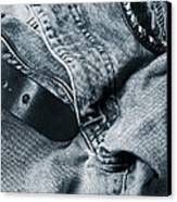 Jeans And Denim In Blue Canvas Print