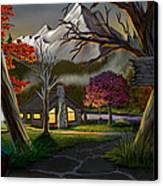 Jeans Cabin Welcome Canvas Print by Brien Miller