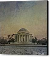 Jefferson Memorial At Dusk Canvas Print