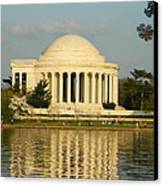Jefferson Memorial At Sunset Canvas Print by Emmy Marie Vickers