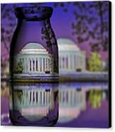 Jefferson Memorial In A Bottle Canvas Print by Susan Candelario