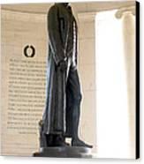 Jefferson Memorial In Washington Dc Canvas Print by Olivier Le Queinec
