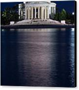 Jefferson Memorial Washington D C Canvas Print by Steve Gadomski