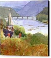 Jeffersons View Canvas Print by Kris Parins