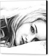 Jennifer Lawrence 2 Canvas Print by Rosalinda Markle