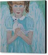 Jenny Little Angel Of Peace And Joy Canvas Print by The Art With A Heart By Charlotte Phillips
