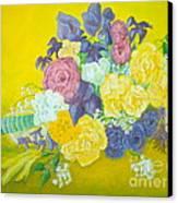 Jen's Wedding Bouquet Canvas Print by Paul Galante